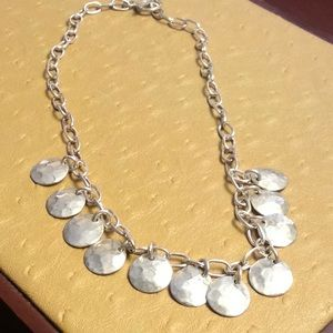 Jewelry - 😍Silver Hammered Disc Necklace😍